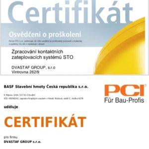 certifikaty PCI (BASF) a STO