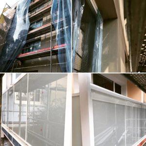 předsazené balkonové zábradlí
