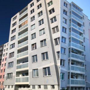 Zdárné dokončení rekonstrukce balkonů Hochmanova, Brno