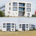 Nová fasáda na administrativní části výrobní haly