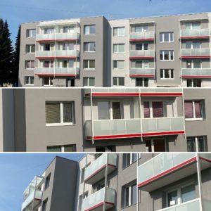 Zateplení fasády a oprava balkonů Letovice