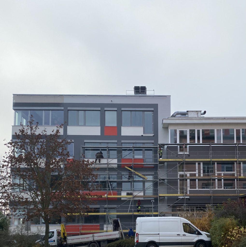 nová fasáda administrativní budova Brno